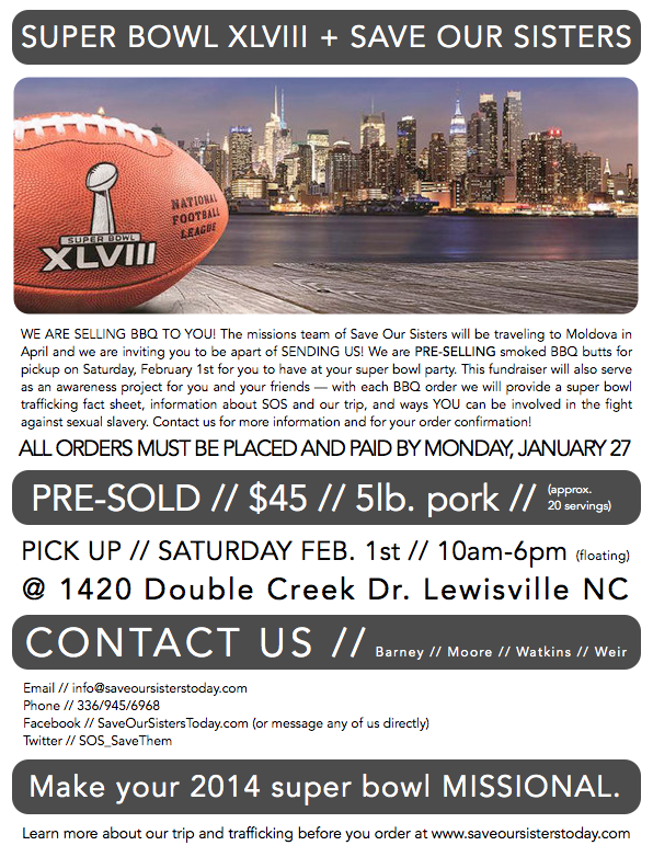 Make your SUPER BOWL MISSIONAL.